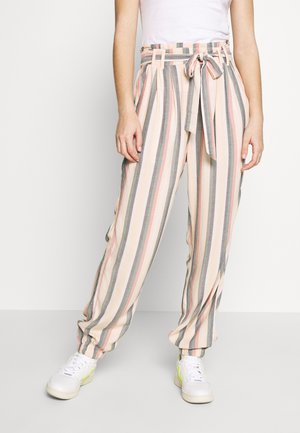 PAPERBAG TIE WAIST CARROT PANTS - Trousers - multi