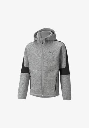 Felpa con zip - medium gray heather