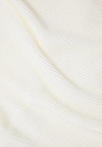 Lindex - SCARF PLISSE - Halsduk - light white - 2