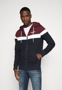 Jack & Jones - JJSHAKER ZIP HOOD - Zip-up hoodie - port royale - 0