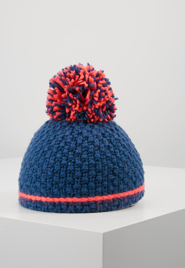 GIRLS HEMSEDAL BOBBLE CAP - Bonnet - midnight blue/coral