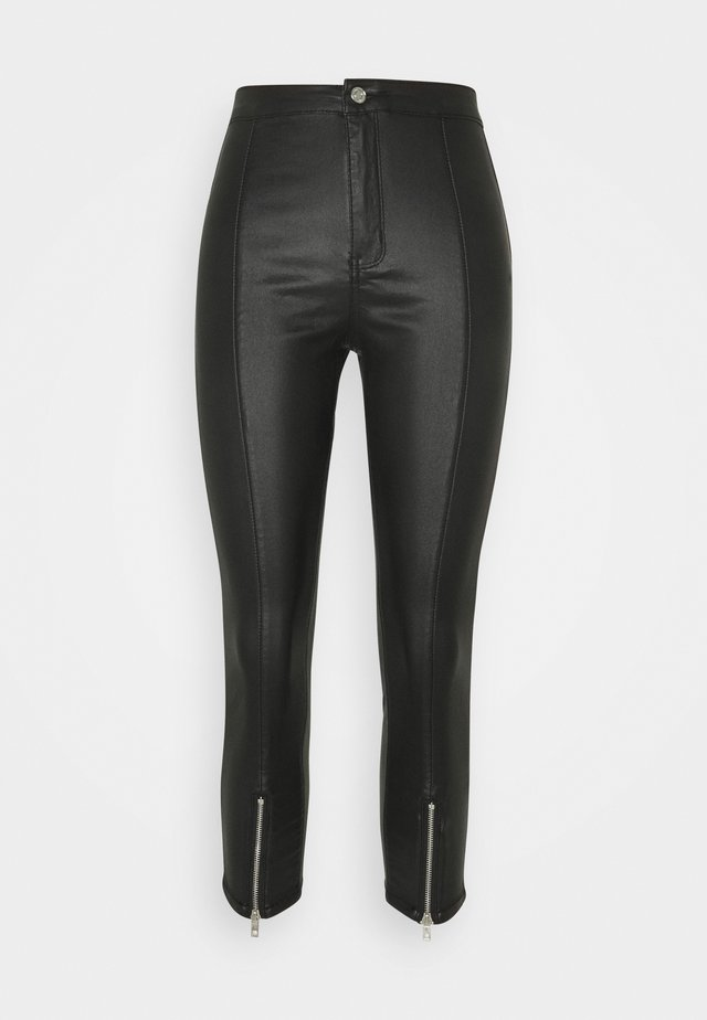 SPLIT VICE WITH ZIPS - Trousers - black