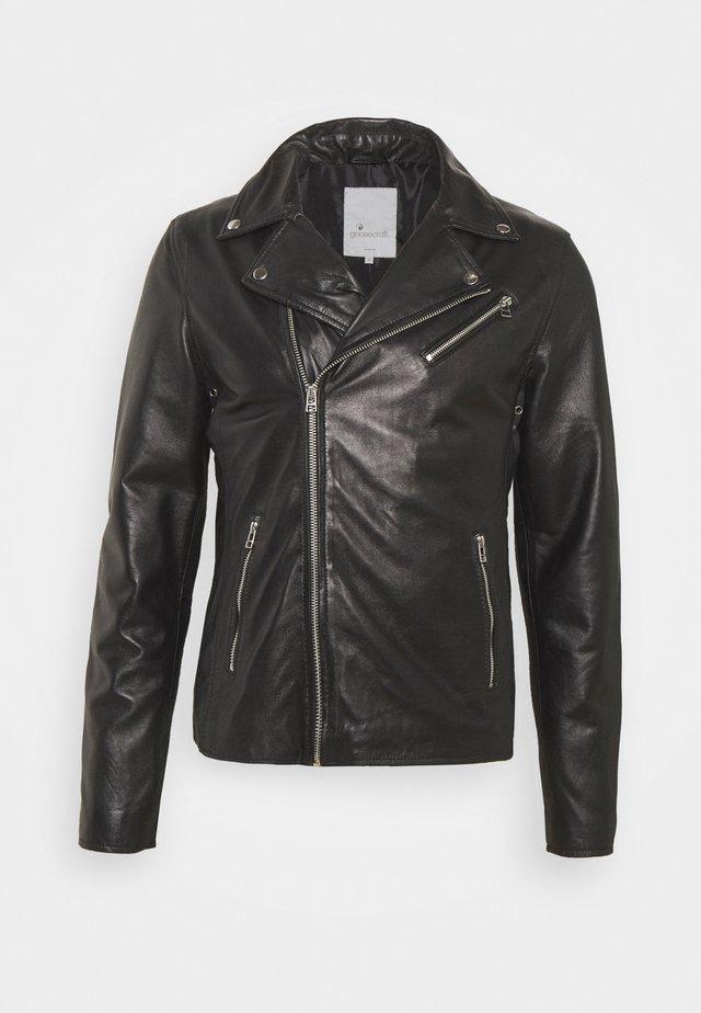 VICK BIKER - Kožená bunda - black