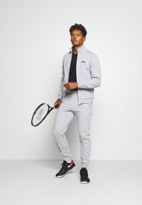 Lacoste Sport - TRACKSUIT - Tracksuit - silver chine/green/white - 1