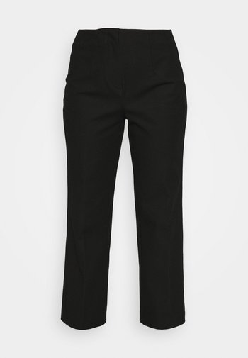 SLFLINA WIDE ANKLE PANT - Pantalones - black