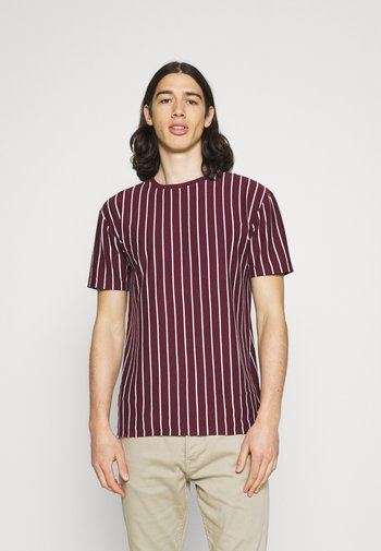 2 PACK - Print T-shirt - black / burgundy