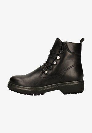 Platform ankle boots - black nappa