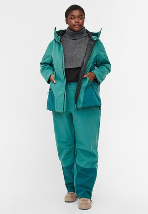 WASSERDICHTE SHELL MIT KAPUZE - Soft shell jacket - blue