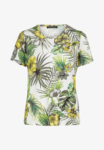 Print T-shirt - white/green