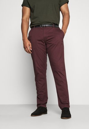 STRETCH WITH BELT - Chinos - wine