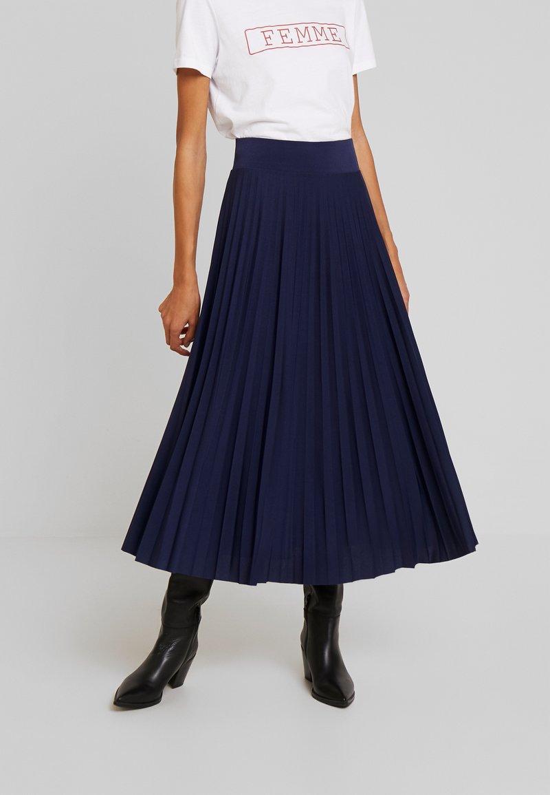 Anna Field - Plisse A-line midi skirt - Spódnica trapezowa - maritime blue