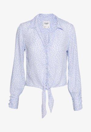 PRINTED - Button-down blouse - blue/white