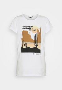 DESERT - Print T-shirt - off white
