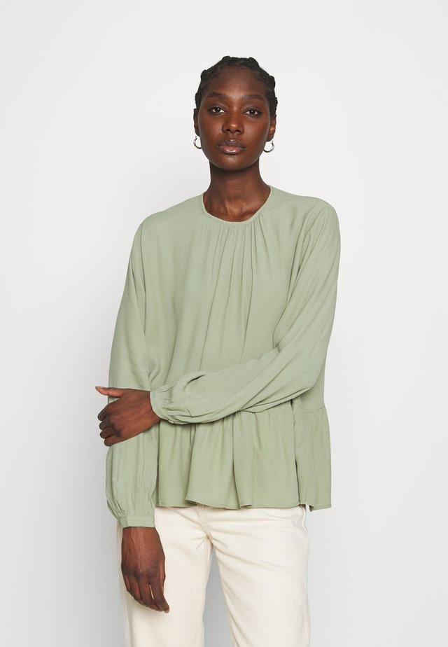 BLOUSE BRENDA - Bluzka z długim rękawem - oil green