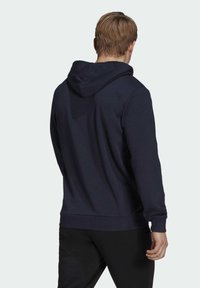adidas Performance - ESSENTIALS FRENCH TERRY LINEAR LOGO HOODIE - Hoodie - blue - 1