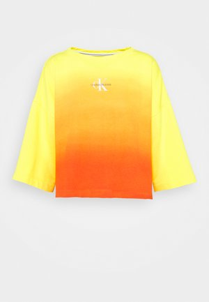 LOOSE BOAT NECK  - Sweatshirt - yellow