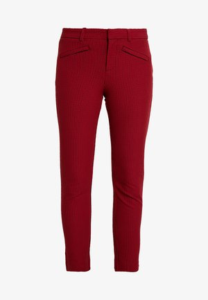 ANKLE BISTRETCH - Trousers - black/red