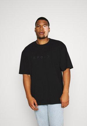 KATAKANA EMBROIDERY - Print T-shirt - black