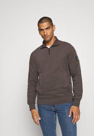 MONOGRAM BADGE MOCK NECK - Felpa - aluminium grey