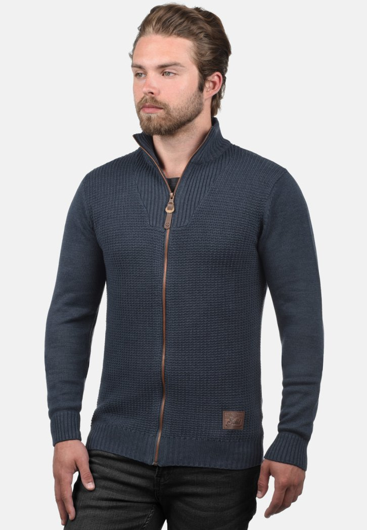 Solid - TRISTAN - Cardigan - dark blue