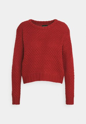MOSS STITCH - Jumper - red