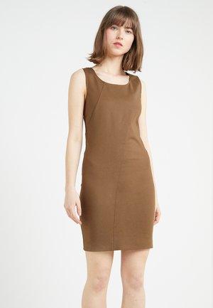 Pouzdrové šaty - techno brown