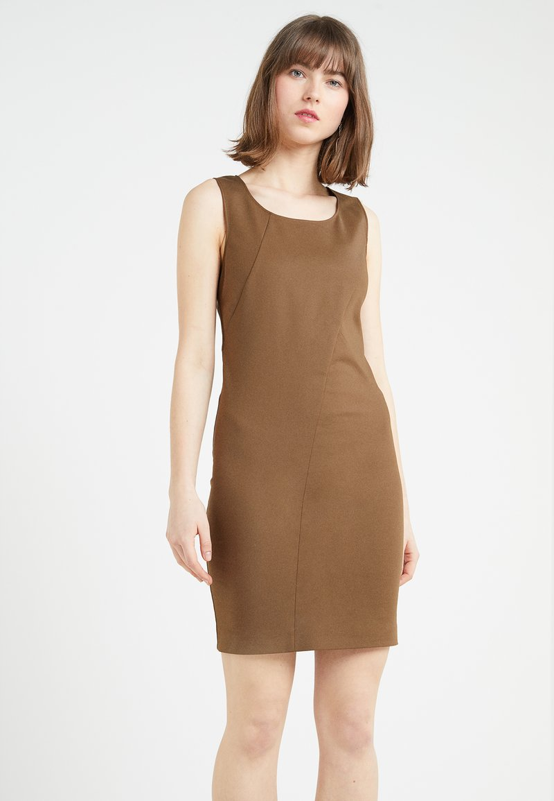 Patrizia Pepe - Shift dress - techno brown