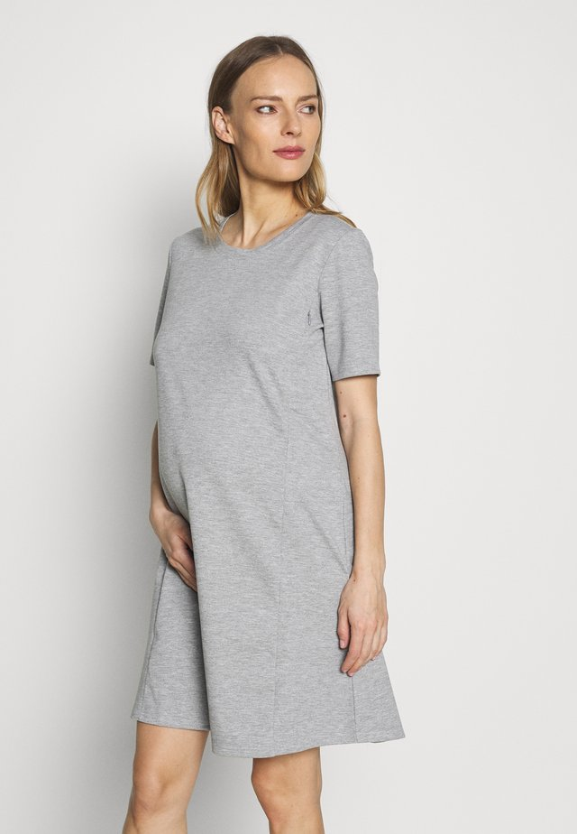 ZIP ACCESS NURSING DRESS - Trikoomekko - medium heather grey