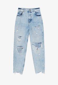 Bershka - MIT RISSEN - Jeans Straight Leg - blue - 4