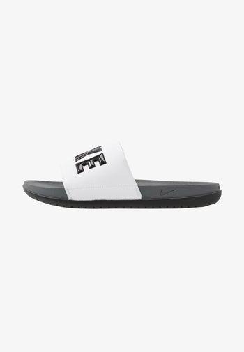 OFFCOURT - Mules - dark grey/black/white
