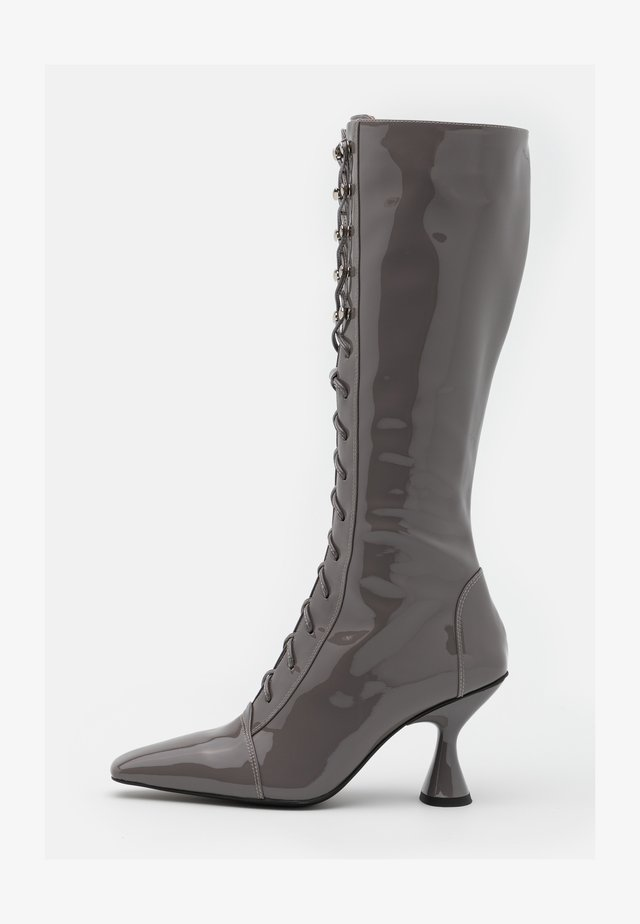 Botas con cordones - grey