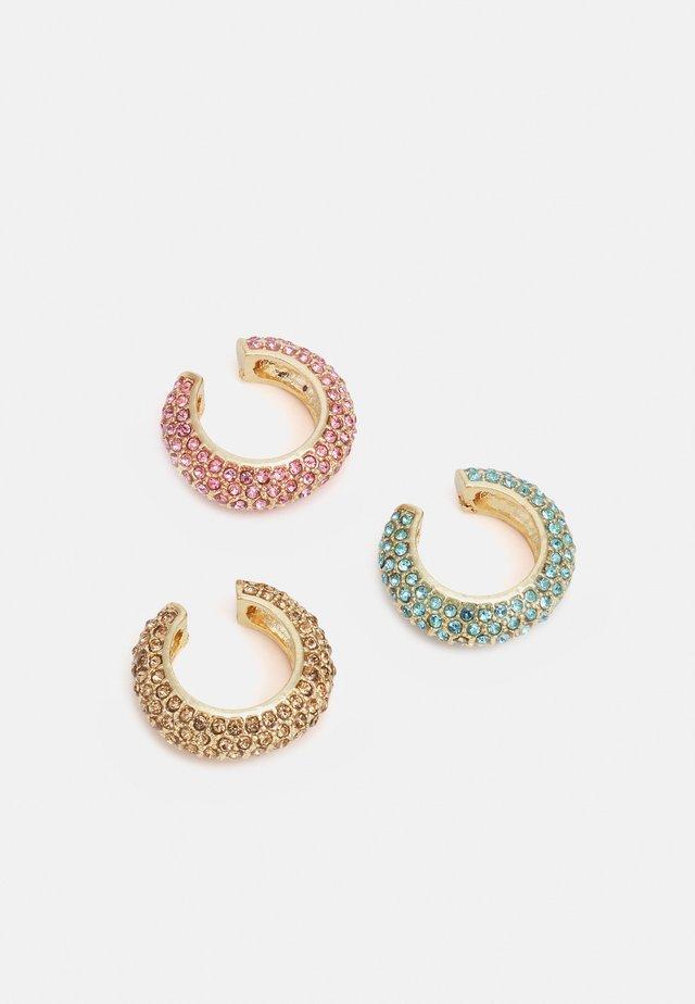 FGCHRIARA HUGGIE 3 PACK - Earrings - gold/multi