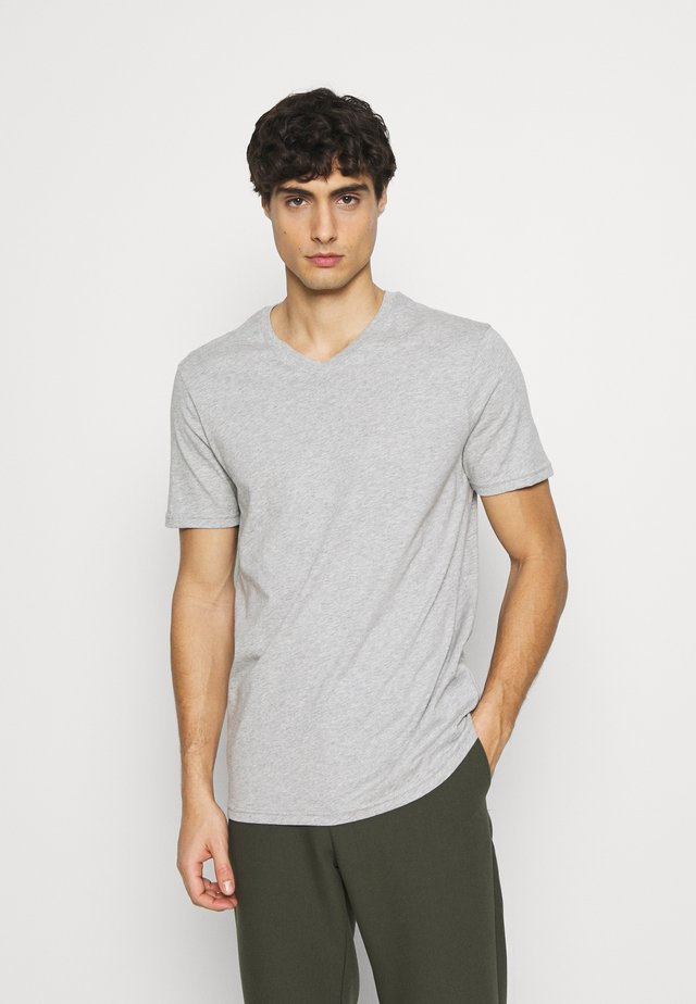 BASIC VNECK - Basic T-shirt - light grey