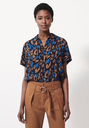 ZAMIKE BLOOM - Button-down blouse - universe blue