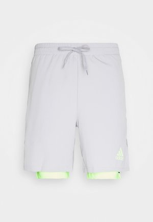 SHORT - Short de sport - glory grey/signal green
