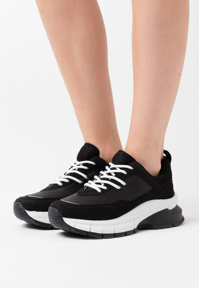 Nly by Nelly - DIVIDED CONTRAST RUNNER - Trainers - white/black