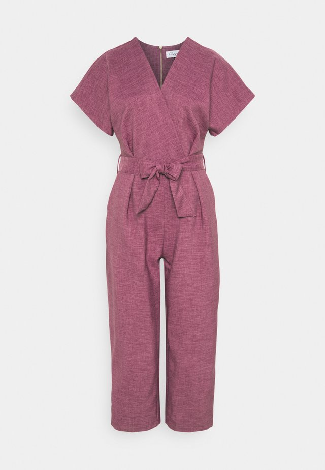WRAP OVER TIE FRONT  - Overall / Jumpsuit /Buksedragter - lilac