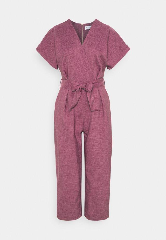 WRAP OVER TIE FRONT  - Jumpsuit - lilac