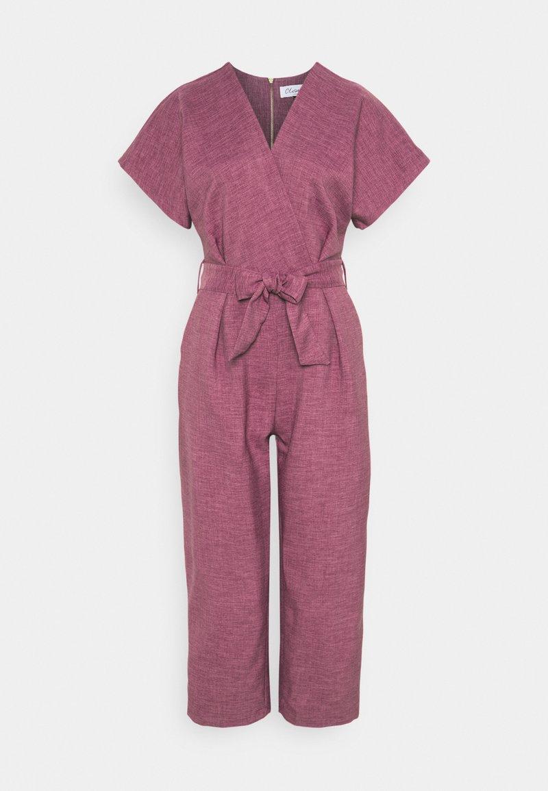 Closet - WRAP OVER TIE FRONT  - Jumpsuit - lilac