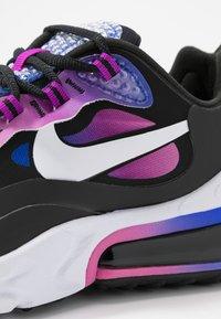 Nike Sportswear - AIR MAX 270 REACT - Sneakersy niskie - hyper blue/white/magic flamingo/vivid purple/black - 2