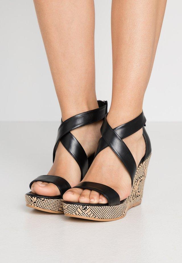 Sandali con tacco - schwarz
