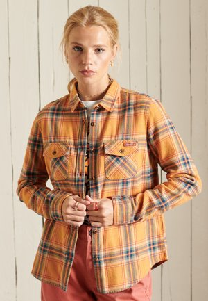 CLASSIC - Button-down blouse - sunset check yellow