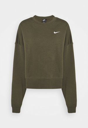CREW TREND - Sweatshirt - cargo khaki/white