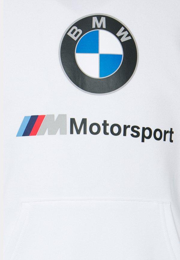 Puma BMW MMS LOGO HOODIE - Bluza z kapturem - white/biały Odzież Męska ZVFR