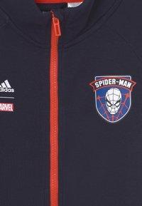 adidas Performance - MARVEL SPIDER-MAN COVER-UP - Zip-up sweatshirt - legend ink/bold orange - 2