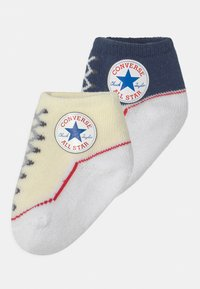 Converse - CHUCK TODDLER 2 PACK UNISEX - Socks - navy/off white - 0