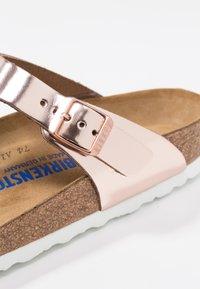 Birkenstock - GIZEH - T-bar sandals - metallic copper - 2