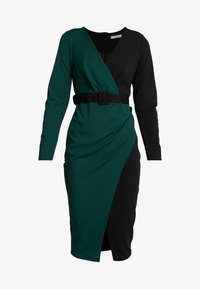 WAL G. - CONTRAST DRESS - Shift dress - black/forest green - 5