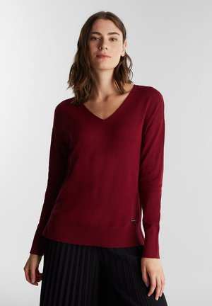 Pullover - bordeaux/red