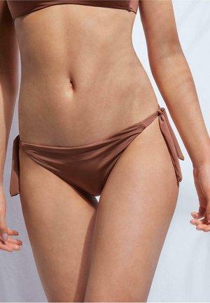 MIT SCHLEIFEN - Bikini pezzo sotto - indian brown